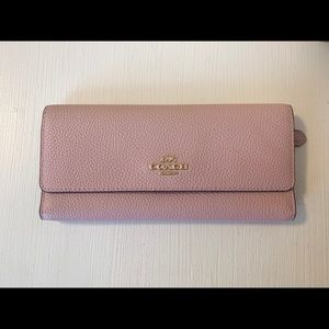 NWOT COACH Leather Pink Wallet